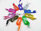 Braided Micro Usb Data Sync Charger Cable Lead For Samsung Galaxy S3 S4 HUDL HTC