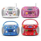 RADIO KASSETTEN RECORDER CD MP3 PLAYER USB KINDER BOOMBOX STEREO ANLAGE TRAGBAR