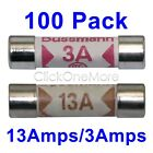 88G - Lot 100 Pcs 3A 13A Domestic Fuses Plug Ceramic Fuse Top Household Mains