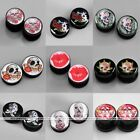 Pair Punk Acrylic Flesh Screw Ear Tunnel Plugs Expander Stretcher Body Jewelry
