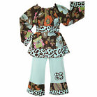 AnnLoren Boutique Smocked Floral Cheetah Girls Outfit
