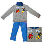 Official Angry Birds Tracksuit Hoodie & Bottoms Grey & Blue 4 6 8 10 Years