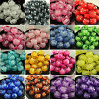 8/10/12mm Pumpkin shape Acrylic Spacer Charm Bead in bead Craft Jewelry Making