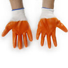 New Work Safety Gloves Orange Latex Coated Rubber Grip Gloves Builders Gardening