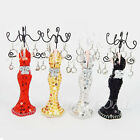 Mannequin Jewellery Stand Necklace Earring Holder Evening Dress Lady Figure New