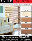 """SUNWOOD with cords venetian blinds - 25mm 1"""" slat made to measure wooden blinds"""