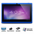 "7"" Tablet PC Quad Core Google Android 4.4 KitKat 8GB Dual Camera Bluetooth WIFI"