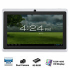7* Tablet PC Quad Core Google Android 4.4 KitKat 8GB Dual Camera Bluetooth WIFI