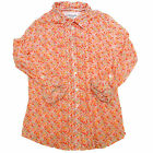Aeropostale Shirt Womens Casual Button Up Long Sleeve Flowers Ruffles V209