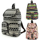 Girl Vintage Canvas Floral School Satchel Rucksack Backpack Campus New Coming