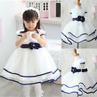 cheap sales Baby Girl Toddler Clothes Formal White Prom Party Ball Gown Dresses