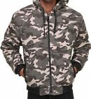 New Courage Woodland Camo Hoodie Lined Fleece Napa  Heavy Jacket  Sweatshirt
