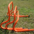 Set of 4 Agility Hurdles Football Rugby Training 15cm-30cm 6''-12'' Red Plastic