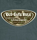 OLD GUYS RULE CLASSIC LIVING LEGEND DESERT CAMO BADGE HEATHER TEE SHIRT