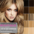 """22"""" Clip In Remy Human Hair Extensions 8 piece Full Head Set - Fast"""