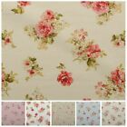 Vintage Chintz Floral Print Retro Shabby 100% Cotton Curtain Upholstery Fabric