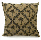 Ng11a Light Brown Deep Green Light Sand Brown Linen Cushion Cover/Pillow Case