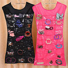 End clearance Cool Jewelry Organizer Necklace Makeup Closet Display Holder Case