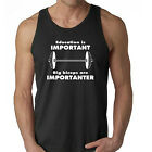 Workout Tank, Education is Important Big Biceps are Importanter, Funny Shirt