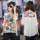 New arrival Soft Women's Loose Chiffon Tops 3/4 Sleeve Shirt Casual Blouses Tops