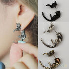 Crazy cheap Long Tail Fox Puncture Ear Studs Womens Mens Unisex Earrings BD2U