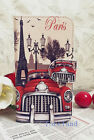 Paris Eiffel Tower & Retro vintage car Leather case/skin for Samsung iPhone iPod