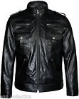 Mens Black Stylish Soft Napa Italian Genuine Leather Designer Jacket All Sizes