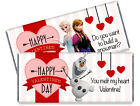 Disney's Frozen Anna, Elsa, Olfa Valentine's Day Personalized Candy Bar Wrappers
