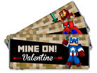 Mine On Minecraft Inspired Valentine's Day Personalized Candy Bar Wrappers