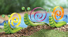 CHOOSE YOUR FAVORITE SNAIL USE INDOOR OUTDOOR GLASS BEAD EYES FUN STAKES NEW