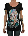 Women's Frozen by Miss Cherry Martini Elsa Punk Edit Princess Tattoo Art T-Shirt