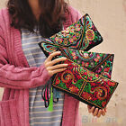 Chic Stunning Womens Ethnic Embroider Purse Wallet Clutch Card Holder Phone Bag
