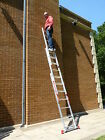 3 Section Triple Treble TRADE Extension Ladder Ladders 4.07m-10.0m FREE STAB BAR