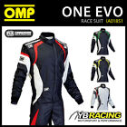 NEW! IA01851 OMP ONE EVO RACE SUIT ULTRA LIGHT TOP OF THE RANGE - NEW FOR 2015!
