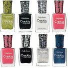 Sally Hansen Crackle Overcoat Nail Varnish Polish Wave Break Snow Ink Splatter
