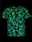 "Schwarzlicht Neon Classic T-Shirt ""Sea of Green Weed"" Goa Blacklight"