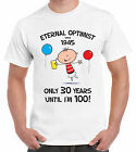 ETERNAL OPTIMIST SINCE 1945 MENS 70th BIRTHDAY T-SHIRT - gift present years old