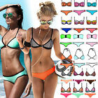 Latest Sexy Womens Neoprene Triangle Bikini Push-up Padded Swimwear Bathing Suit