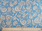 Vintage retro look floral daisy on Blue background 100% cotton Fabric material