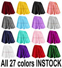 S Women Lady Satin Pleated Retro High Waist Shiny Mini Skirt Boho Girl 27 Color