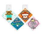 Baby Car Signs Available in 4 Cute Designs with Suction Pad to Stick