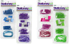 "Paper Clip, Bulldog Clip & Elastic Band Set 4 Colours ""Royle Stationery"""