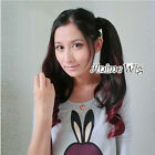 New Arrival Women Mixed Color Gradient Tied Up Ponytail Cosplay Wig one piece