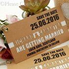 Personalised Double Layer Kraft Save the Date Tags for Rustic Wedding