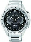 Citizen Eco-Drive 100m Black Multi-Dial Chronograph Watch CA4120-50E