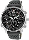 Citizen Eco-Drive Nighthawk Chronograph Euro Radio Sapphire Watch AS4020-36E