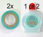 USA Waterproof Hair Tape Rolls + Adhesive Remover Fast Acting for Hair Extension