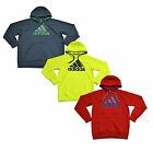 Adidas Sweatshirt Mens Athletic Hoodie Long Sleeve Logo Gray Red Yellow New W167