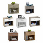 JONNY Stylish Bedside Tables Single Drawer White/Beech/Oak/Dark Oak/Walnut
