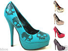 IRON FIST SUGAR HICCUP PLATFORM SEQUIN SKULL STILETTO HEELS SHOES SIZE 3-9 NEW